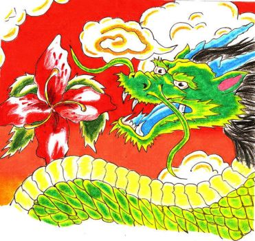 chinese dragon by BLACK-METAL-WOLVEN