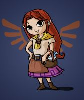 Malon in Zelda Wind Waker Style by songe-creux