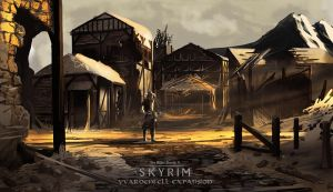 Skryim Vvardenfell Expansion Concept Art by Daolpu