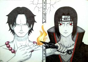 Ace and Itachi by DreAmSPainTeR