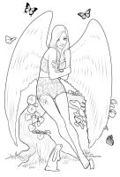 MLP Fluttershy Coloring Sheet by AshenCreative