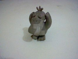 Psyduck model in clay _front_ by andreruz