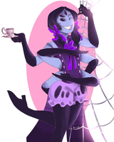 POINTS COMMISSION- Monofell!Muffet by PC-Doodle by Kayroos
