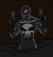 The Symbiote'd Punisher 1 by GobDemoMaster