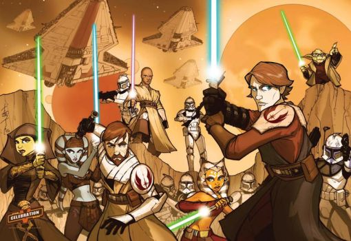 SWCV Clone Wars Poster HEROES by Hodges-Art
