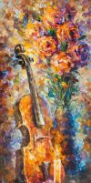 Strings of Hapiness by Leonid Afremov by Leonidafremov