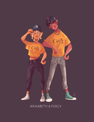 Annabeth and Percy! by Jimmy-ilustra