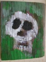 Skull 8 Green Moss by rosswright