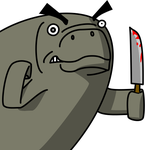 ANGRY STABBY manatee by shook12