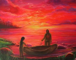 Bringing the Canoe in by Marybriannemckay