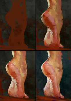 Foot Study Process by AaronGriffinArt