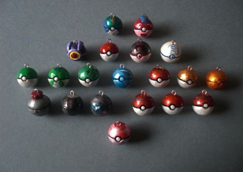 Movie Anime Pokeball Charms by GandaKris