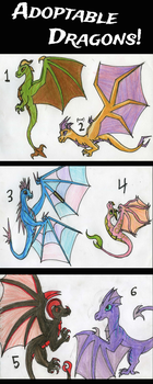 Adoptable Dragons by GwillaTheDragon