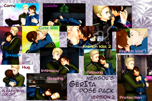 MMD GerIta Pose Pack v.2 by Italy--Feliciano