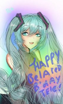 belated happy birthday to my friend Tele by APPLE-NYAN6
