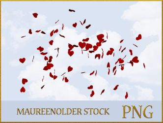 STOCK PNG hearts in the wind by MaureenOlder