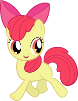 Apple Bloom Trotting Away by RedPandaPony
