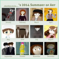 Art Summary 2014. by mortified-Archie