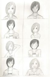The many expressions of Chloe and Mamoru by TheARTIST-4