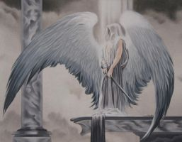 michael from book of angels by dragynsart