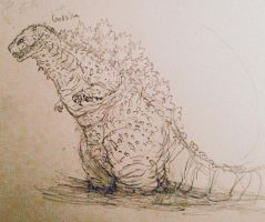 G_Redesigned - Godzilla Concept (8) by Apgigan