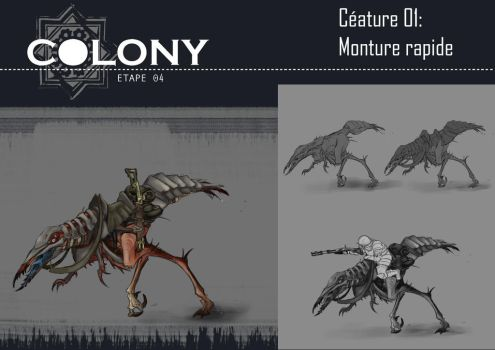 Colony: fast mount by Popuche