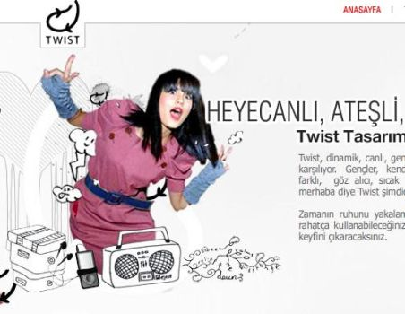 Twist website by felesriddicules
