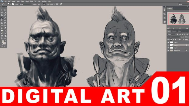 01 - Digital  Painting [TUTORIAL VIDEO] by randis