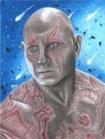 Drax (colored pencils) by MayTheForceBeWithYou