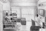 Sketch of living room by ChromeFlames