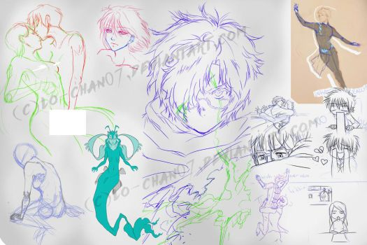 A collection of unfinished drawings by Lo-chan07