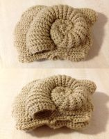 Consult the crocheted Helix Fossil! by TombRaiderKuchen