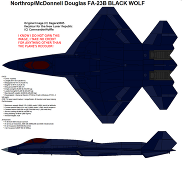 F/A-23 Advanced Tactical Fighter NLRAF by CommanderWolffe