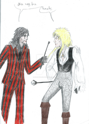 Alice Cooper and Jareth the Goblin King by Kuromizuri2