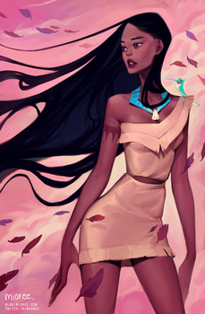 Pocahontas by mioree-art