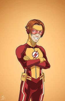 Kid Flash 2.0 (Earth-27) commission by phil-cho