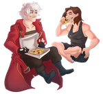 gimme pizza, pizza pie by Loxiv