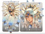 G E M I N A 05 : Sapphire - extra full watercolor by Pearlgraygallery