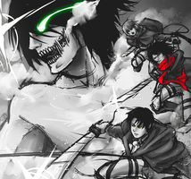SnK -  Attack time! by PinK-BanG