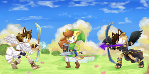 Pits vs Toon link by CuteyTCat