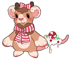 [DTA Strudel Entry] Peppermind Gingerbread Mouse by ElskaFox