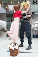 I want to know the real you :P Aerith x Cloud by AiridAndKaitoCosplay