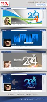 New Year's Facebook Timeline Template by Redshinestudio