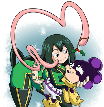 Commission: Christmas Tsuyu and Mineta by grimphantom