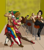 Vega Dances with Anna Williams by argeiphontes