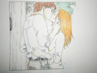 Harry and Ginny Coloured by ollyfish