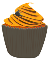 Halloween Cupcake Clipart by Wisp-Stock