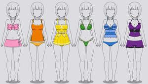 Kisekae Swimsuits: Ribbons/Bows (Codes included) by RainbowFan256