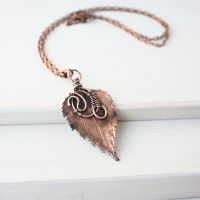 Real birch leaf necklace - Botanical jewel by WhiteSquaw