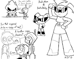 ROBOTS and Zim 3 by KGN-000